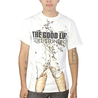 YMCMB The Good Life Still Stunting Men's Graphic Design White Printed T-shirt