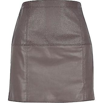 River Island Leather-Look Pelmet Skirt