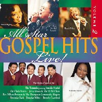 Alle Star evangeliet Hits - Live [CD] USA importerer