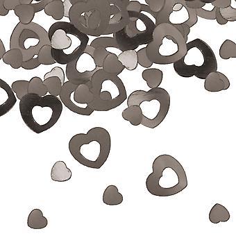 Silver heart table confetti wedding decoration confetti heart