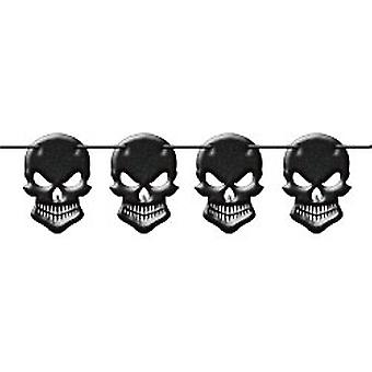 Halloween party decoration Kokette Garland 6 m long skull