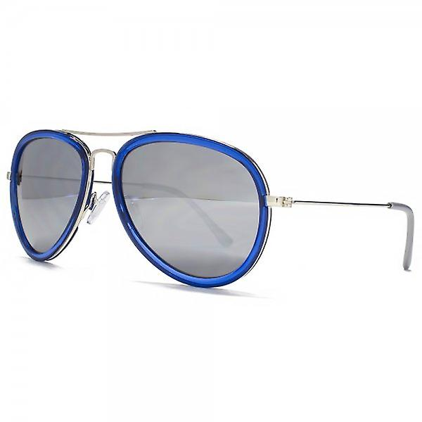 Miss KG Plastic Combo Pilot Sunglasses In Crystal Navy