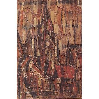 Christian Rohlfs - Kirche in Soest 1912 Poster Print Giclee