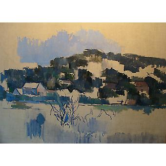 Paul Cezanne - Houses on Hill Nima Poster Print Giclee