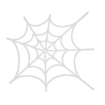 16 White Card Spider Web Cut Outs for Halloween Crafts | Kids Halloween Crafts