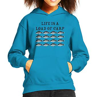 Life Is A Load Of Carp Kid's Hooded Sweatshirt