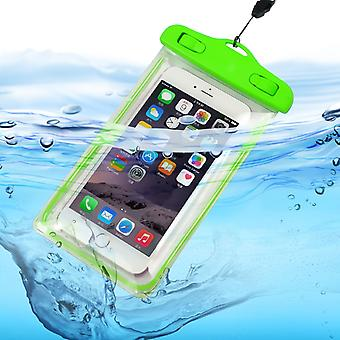 ONX3 (Green) Alcatel Pop Star / Pop Star LTE Universal Durable Underwater Dry Bag, Touch Responsive Transparent Windows, Watertight Sealed System Pouch