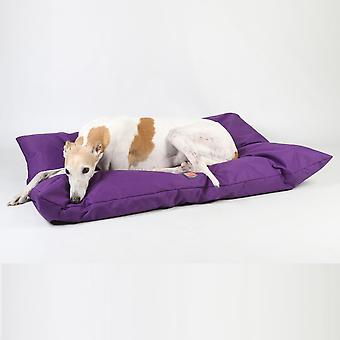 Ginger Ted Deep Cushion Waterproof Dog Bed  Purple with Removeable Washable Cover