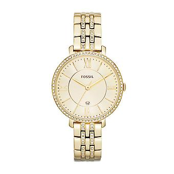 Fossil ladies watch wristwatch slim stainless steel gold ES3547 Jacqueline