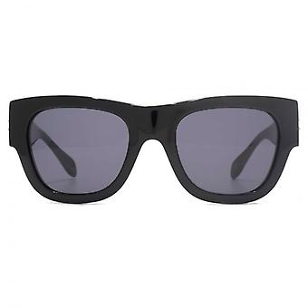Alexander McQueen Edge Retro Style Sunglasses In Black