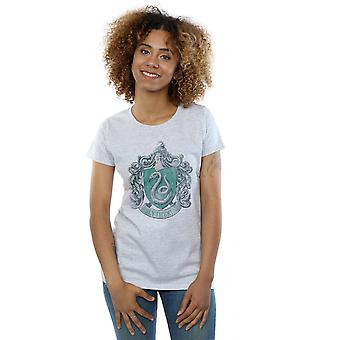Harry Potter Women's Slytherin Distressed Crest T-Shirt