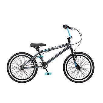 """Tupp Jammin 18 """"hjul pojkar BMX grå/svart/blå cykel"""