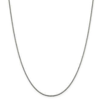 Bracelet de cheville argent sterling massif poli 1,4 mm boîte chaîne printemps - 2,2 grammes 9 po - bague