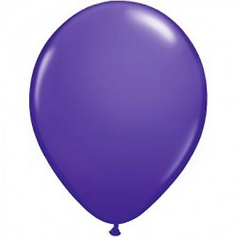Qualatex 5 Inch Plain Purple Violet Latex Party Balloons (Pack Of 100)