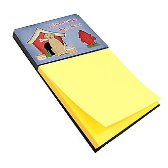 Hond huis collectie gele Labrador notitie houder