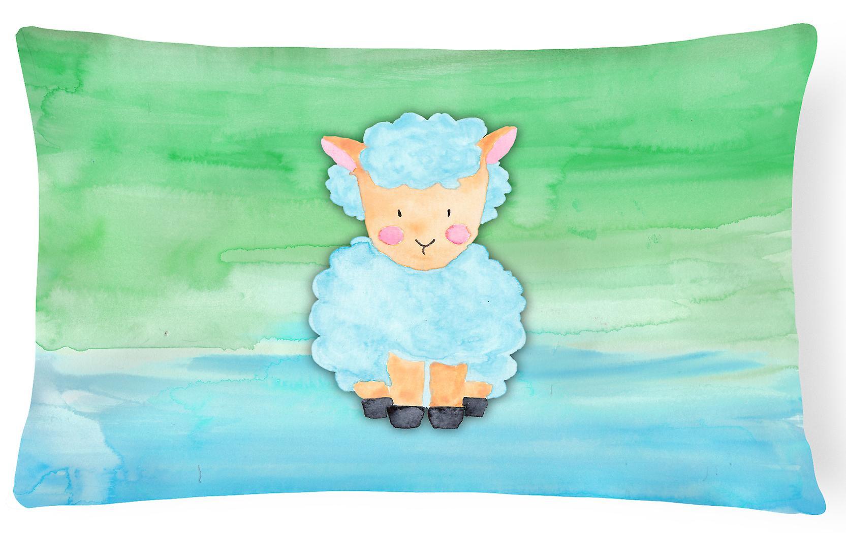 Agneau Décoratif Mouton Aquarelle Tissu Toile Oreiller 6YfyIbgv7