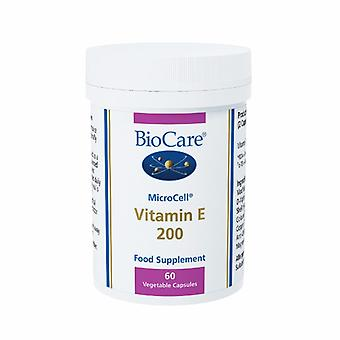 Biocare MicroCell Vitamin E 200iu (natural source), 60 vegi capsules