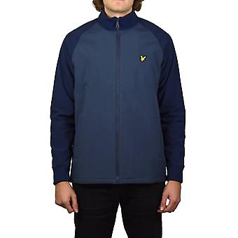 Lyle & Scott Funnel Neck Giacca Soft Shell (Navy)