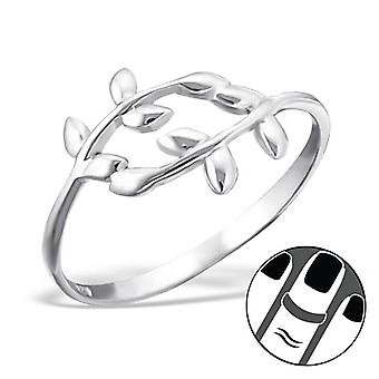 Olive branch - 925 Sterling Silver Midi Rings - W19929X