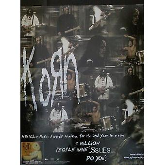 Korn Collage Issues Poster