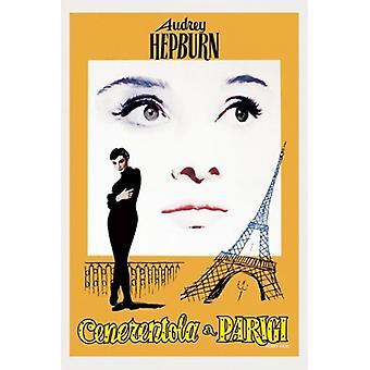 Одри Хепберн смешное лицо - итальянский Плакат Плакат Печать