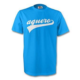 Sergio Aguero Argentine Signature T (rouge)