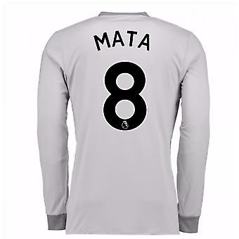 2017-2018 man United langermet tredje skjorte (Mata 8)