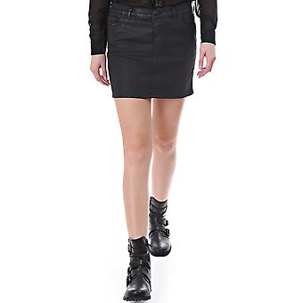 Diesel Mode Jogg Jean Waxed Effect Skirt