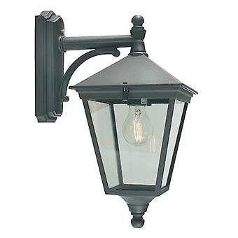 Turin Outdoor Down Wall Lantern - Elstead Lighting T2 BLACK