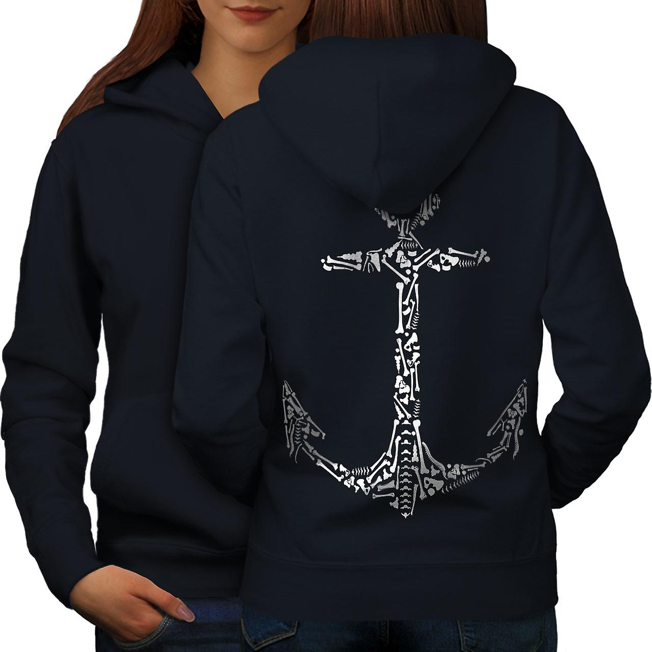 Ancre ancienne mode pour femmes NavyHoodie dos
