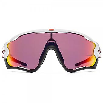 Oakley Jawbreaker Sunglasses In Polished White Prizm Road