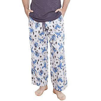 Cyberjammies 6198 Men's Drake Grey Motif Pajama Pant