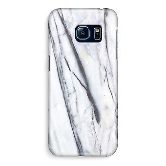 Samsung S6 Edge Full Print Case - Striped marble