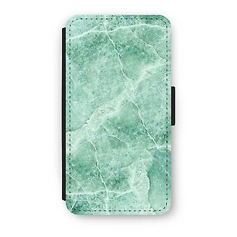 iPhone X Flip Case - Green marble