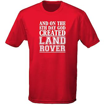 And On The 8th Day God Created Land Rover Cars Motor Mens T-Shirt 10 Colours (S-3XL) by swagwear