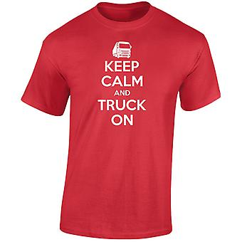 Keep Calm And Truck On Lorry Haulage Mens T-Shirt 10 Colours (S-3XL) by swagwear
