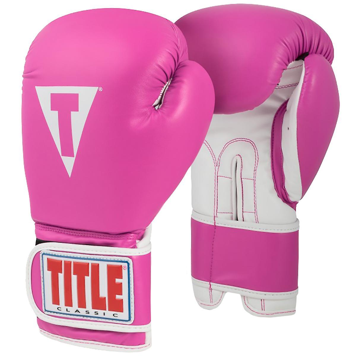 Titre boxe classique Style Pro 3.0 crochet et boucle formation gants - Hot rose blanc