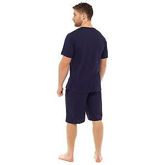 Tom Franks Mens liso Polycotton corto verano salón pijamas