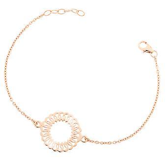 Orphelia plata 925 pulsera rosa centro círculo ZA-7075/1