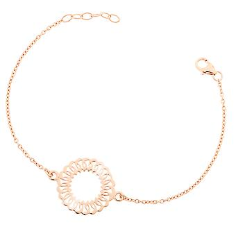 Orphelia Silver 925 Bracelet Rose Center Circle  ZA-7075/1