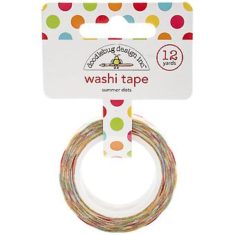 Sunkissed Washi Tape 8mm, 12yds-Summer Dots