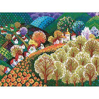 Valley Of Fairytale Counted Cross Stitch Kit-15.75