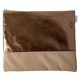 Cappuccino & Bronze Large Zip Top Pouch