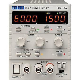 Aim TTi PL601 Bench PSU (adjustable voltage) 0 - 60 Vdc 0 - 1.5 A 90 W No. of outputs 1 x