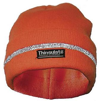 Woollen hat Fluorescent orange Lasse 40312