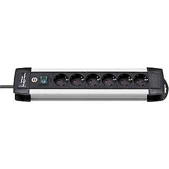 Brennenstuhl 1391000016 Socket strip (+ switch) 6x Black, Aluminium PG connector