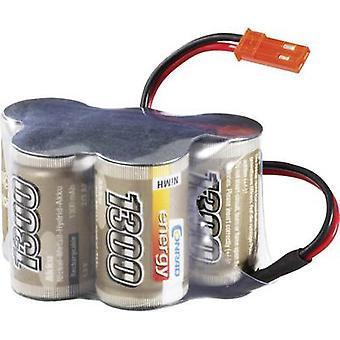 Scale model receiver battery (NiMH) 6 V 1300 mAh Conrad energy H
