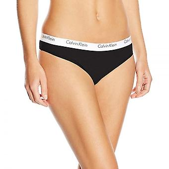 Calvin Klein Women CK One Cotton Thong, Black, Large