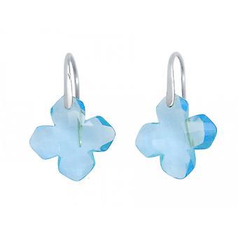 Gemshine - dames - oorbellen - 925 zilver - Blue Topaz - blue - GEM - 2.5 cm