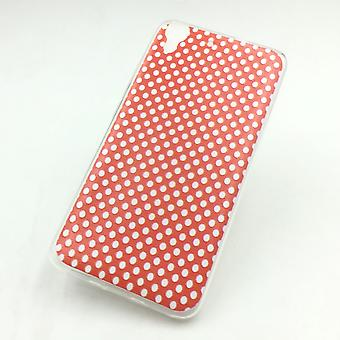 Mobile Shell for Huawei G play mini cover case protective bag motif slim silicone TPU polka dot Red